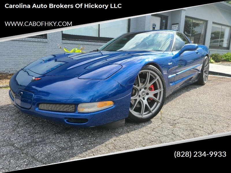 2002 Chevrolet Corvette for sale at Carolina Auto Brokers of Hickory LLC in Newton NC