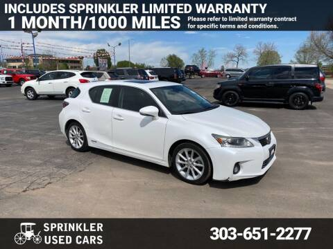 2012 Lexus CT 200h for sale at Sprinkler Used Cars in Longmont CO