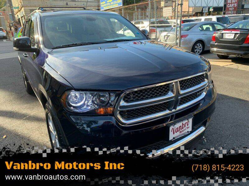2011 Dodge Durango for sale at Vanbro Motors Inc in Staten Island NY