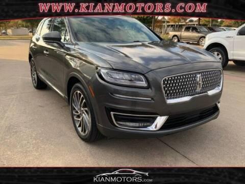 2019 Lincoln Nautilus for sale at KIAN MOTORS INC in Denton TX