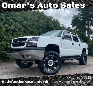 2003 Chevrolet Avalanche for sale at Omar's Auto Sales in Martinez GA