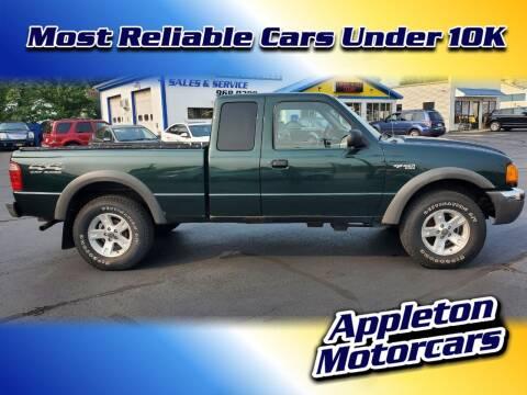 2002 Ford Ranger for sale at Appleton Motorcars Sales & Service in Appleton WI