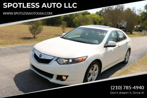 2010 Acura TSX for sale at SPOTLESS AUTO LLC in San Antonio TX