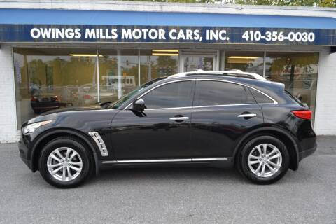 2012 Infiniti FX35 for sale at Owings Mills Motor Cars in Owings Mills MD