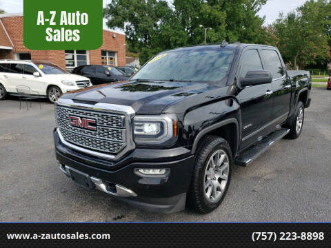2016 GMC Sierra 1500 for sale at A-Z Auto Sales in Newport News VA