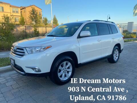 2013 Toyota Highlander for sale at IE Dream Motors-Upland in Upland CA