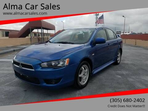 2011 Mitsubishi Lancer for sale at Alma Car Sales in Miami FL
