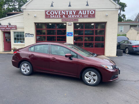 2015 Honda Civic for sale at COVENTRY AUTO SALES in Coventry CT