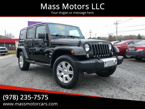 2015 Jeep Wrangler Unlimited for sale at Mass Motors LLC in Worcester MA