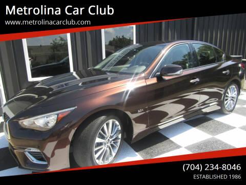 2018 Infiniti Q50 for sale at Metrolina Car Club in Matthews NC
