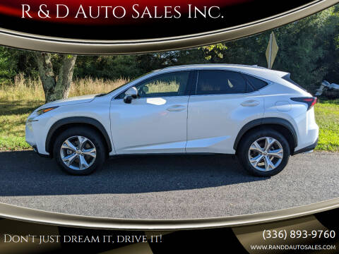 2017 Lexus NX 200t for sale at R & D Auto Sales Inc. in Lexington NC