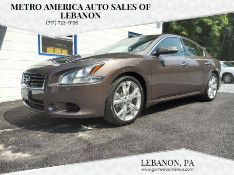 2012 Nissan Maxima for sale at METRO AMERICA AUTO SALES of Lebanon in Lebanon PA