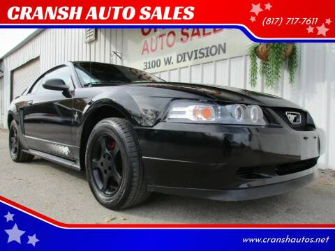2000 Ford Mustang for sale at CRANSH AUTO SALES, INC in Arlington TX