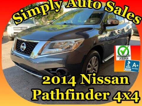 2014 Nissan Pathfinder for sale at Simply Auto Sales in Palm Beach Gardens FL