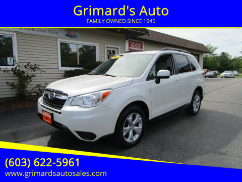 2015 Subaru Forester for sale at Grimard's Auto in Hooksett NH