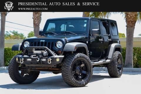 2013 Jeep Wrangler Unlimited for sale at Presidential Auto  Sales & Service in Delray Beach FL