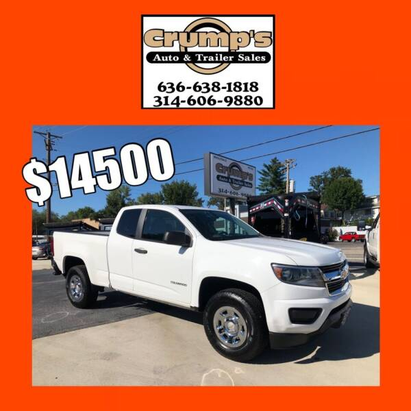 2015 Chevrolet Colorado for sale at CRUMP'S AUTO & TRAILER SALES in Crystal City MO