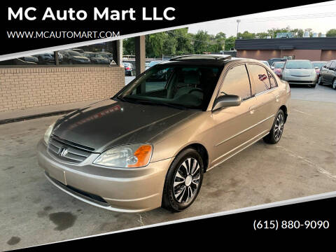 2001 Honda Civic for sale at MC Auto Mart LLC in Hermitage TN