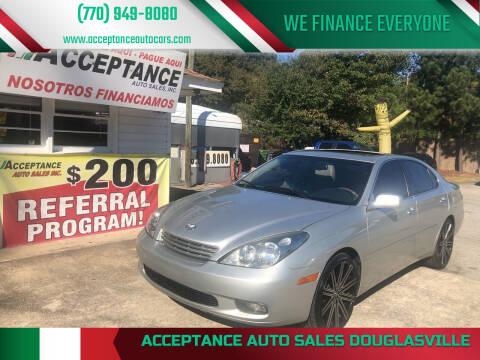 2002 Lexus ES 300 for sale at Acceptance Auto Sales Douglasville in Douglasville GA