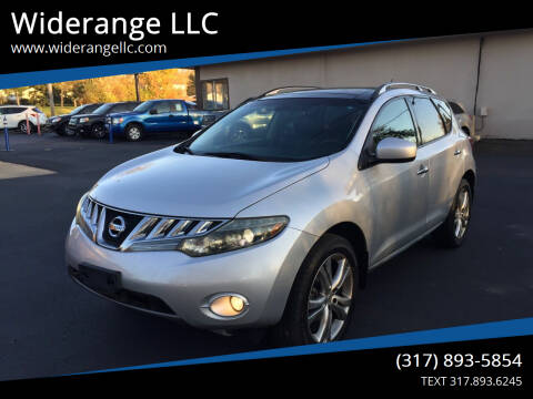 2009 Nissan Murano for sale at Widerange LLC in Greenwood IN