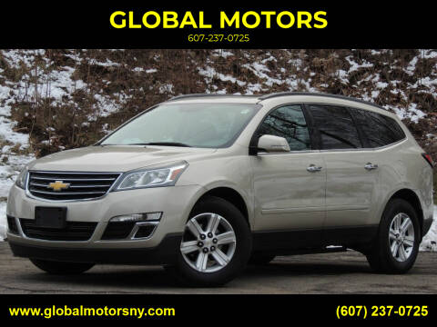 2014 Chevrolet Traverse for sale at GLOBAL MOTORS in Binghamton NY