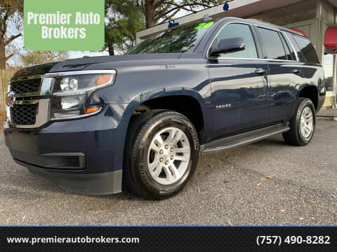 2020 Chevrolet Tahoe for sale at Premier Auto Brokers in Virginia Beach VA