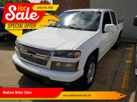2010 Chevrolet Colorado for sale at Madison Motor Sales in Madison Heights MI