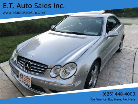 2003 Mercedes-Benz CLK for sale at E.T. Auto Sales Inc. in El Monte CA