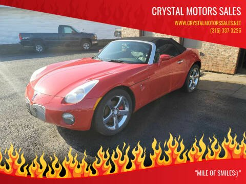 2007 Pontiac Solstice for sale at CRYSTAL MOTORS SALES in Rome NY