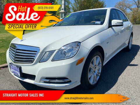 2012 Mercedes-Benz E-Class for sale at STRAIGHT MOTOR SALES INC in Paterson NJ