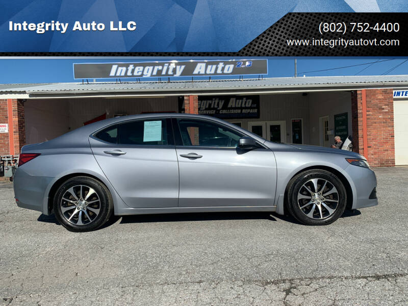 2015 Acura TLX for sale at Integrity Auto LLC - Integrity Auto 2.0 in St. Albans VT