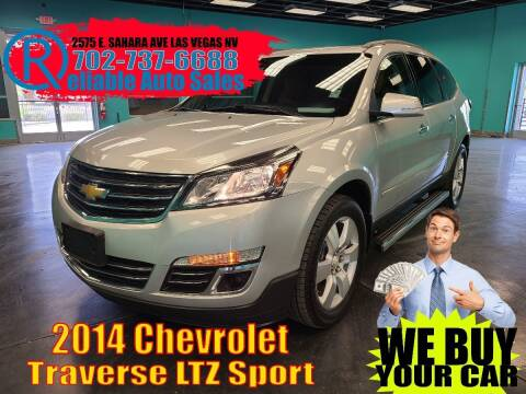 2014 Chevrolet Traverse for sale at Reliable Auto Sales in Las Vegas NV