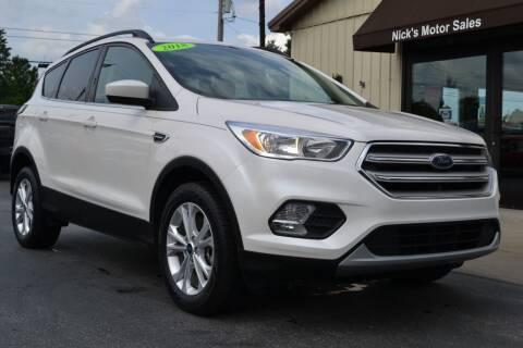 2018 Ford Escape for sale at Nick's Motor Sales LLC in Kalkaska MI
