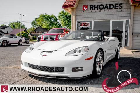 2013 Chevrolet Corvette for sale at Rhoades Automotive in Columbia City IN