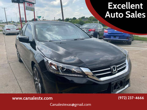 2015 Honda Accord for sale at Excellent Auto Sales in Grand Prairie TX