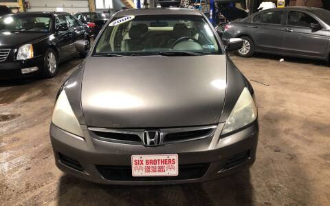 2006 Honda Accord for sale at Six Brothers Auto Sales in Youngstown OH