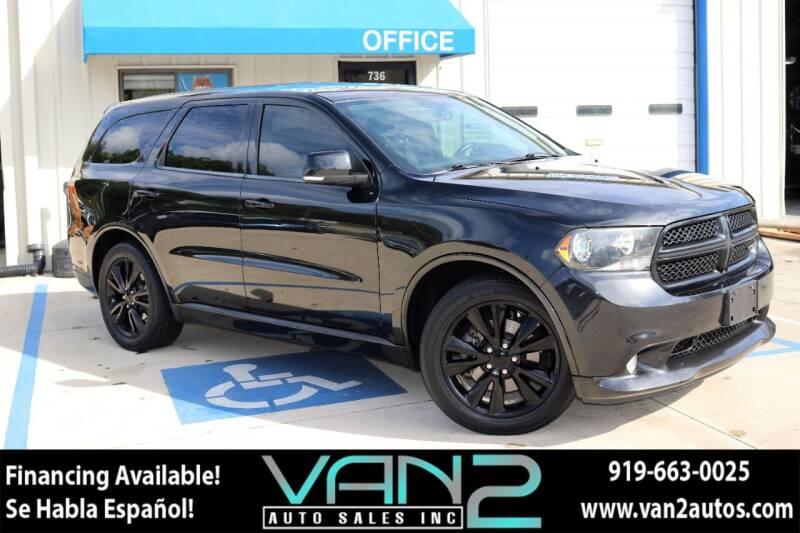 2013 Dodge Durango for sale at Van 2 Auto Sales Inc in Siler City NC