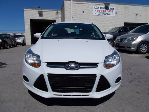 2013 Ford Focus for sale at ACH AutoHaus in Dallas TX