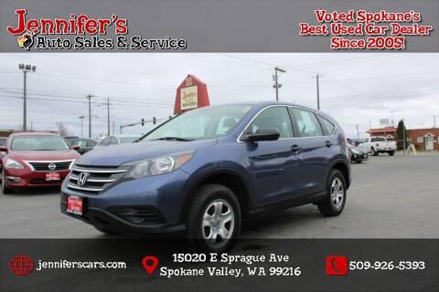 2014 Honda CR-V for sale at Jennifer's Auto Sales in Spokane Valley WA
