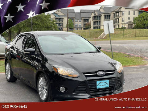 2012 Ford Focus for sale at Central Union Auto Finance LLC in Austin TX