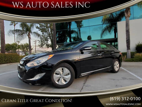 2013 Hyundai Sonata Hybrid for sale at WS AUTO SALES INC in El Cajon CA