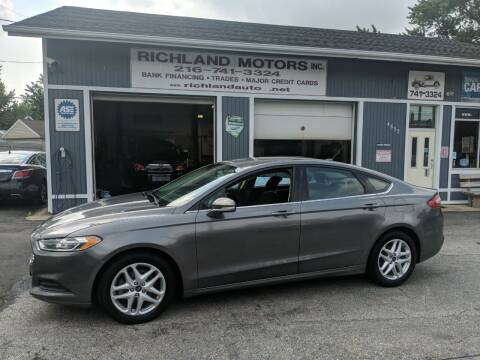 2013 Ford Fusion for sale at Richland Motors in Cleveland OH