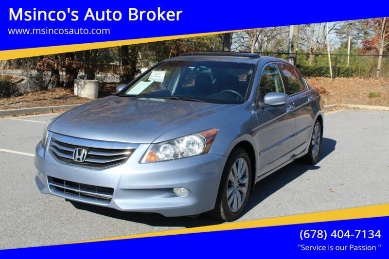 2012 Honda Accord for sale at Msinco's Auto Broker in Snellville GA