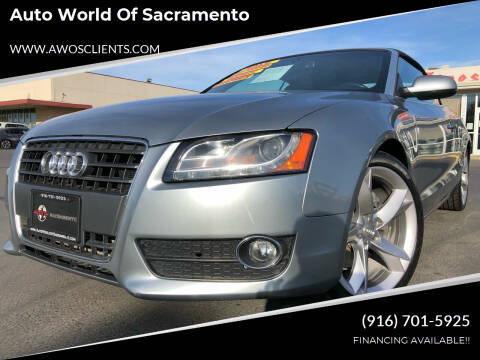 2011 Audi A5 for sale at Auto World of Sacramento Stockton Blvd in Sacramento CA