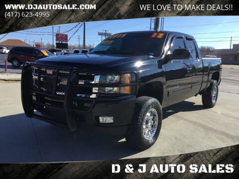 2012 Chevrolet Silverado 1500 for sale at D & J AUTO SALES in Joplin MO