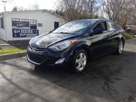 2012 Hyundai Elantra for sale at TR MOTORS in Gastonia NC