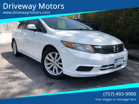 2012 Honda Civic for sale at Driveway Motors in Virginia Beach VA