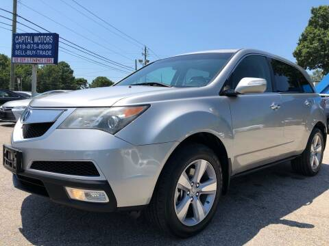 2013 Acura MDX for sale at Capital Motors in Raleigh NC