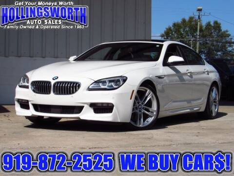 2017 BMW 6 Series for sale at Hollingsworth Auto Sales in Raleigh NC