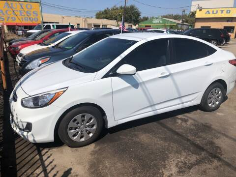 2016 Hyundai Accent for sale at Auto Access in Irving TX